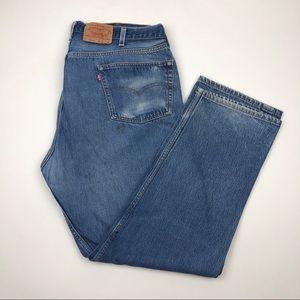 Vintage Levi's 501 Big E Jeans Men's Tag Sz 46x36